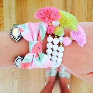 Watermelon Bow Bracelet
